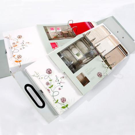 Sample ring binder box with handle