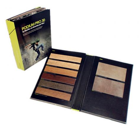 Professional wood flooring folder printing